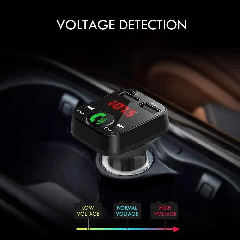 Rovtop-Kit Bluetooth inalámbrico para coche, transmisor FM LCD, reproductor MP3, Cargador USB, modulador FM, accesorios para coche Z4
