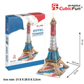 Medium Size Cubic Fun 3D Paper Puzzle Eiffel Tower C044 35pcs 20.5*23*47 cm