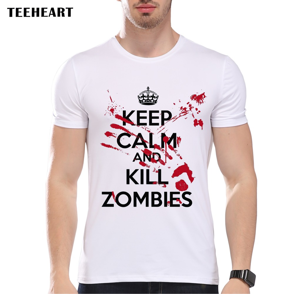 Design t shirt keep calm - Design T Shirt Keep Calm Buy Teeheart Zombie Design Men S T Shirt Keep Calm The