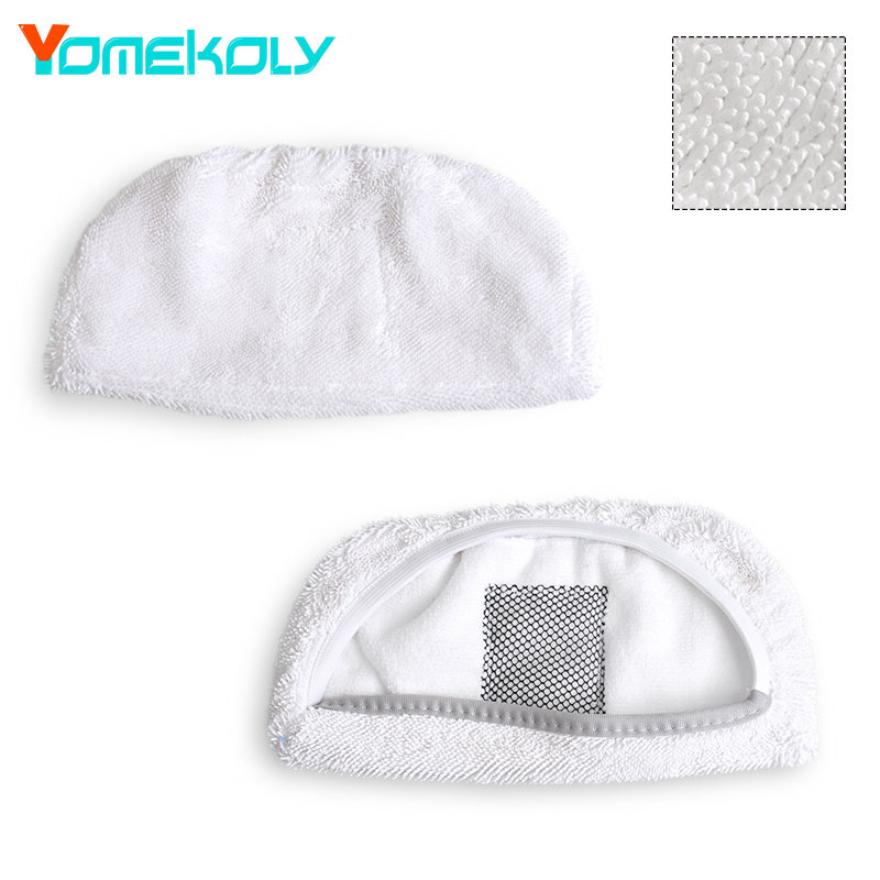 Steam Mop Pad for Bissell Symphony 1132 Floor Vacuum Cleaing Cloth Pads Replacements Mopping Cloth Pads Vacuum Cleaner Parts steam mop microfiber cloth floor cleaning triangle pads cover for water mop steam mop cloth cover for black