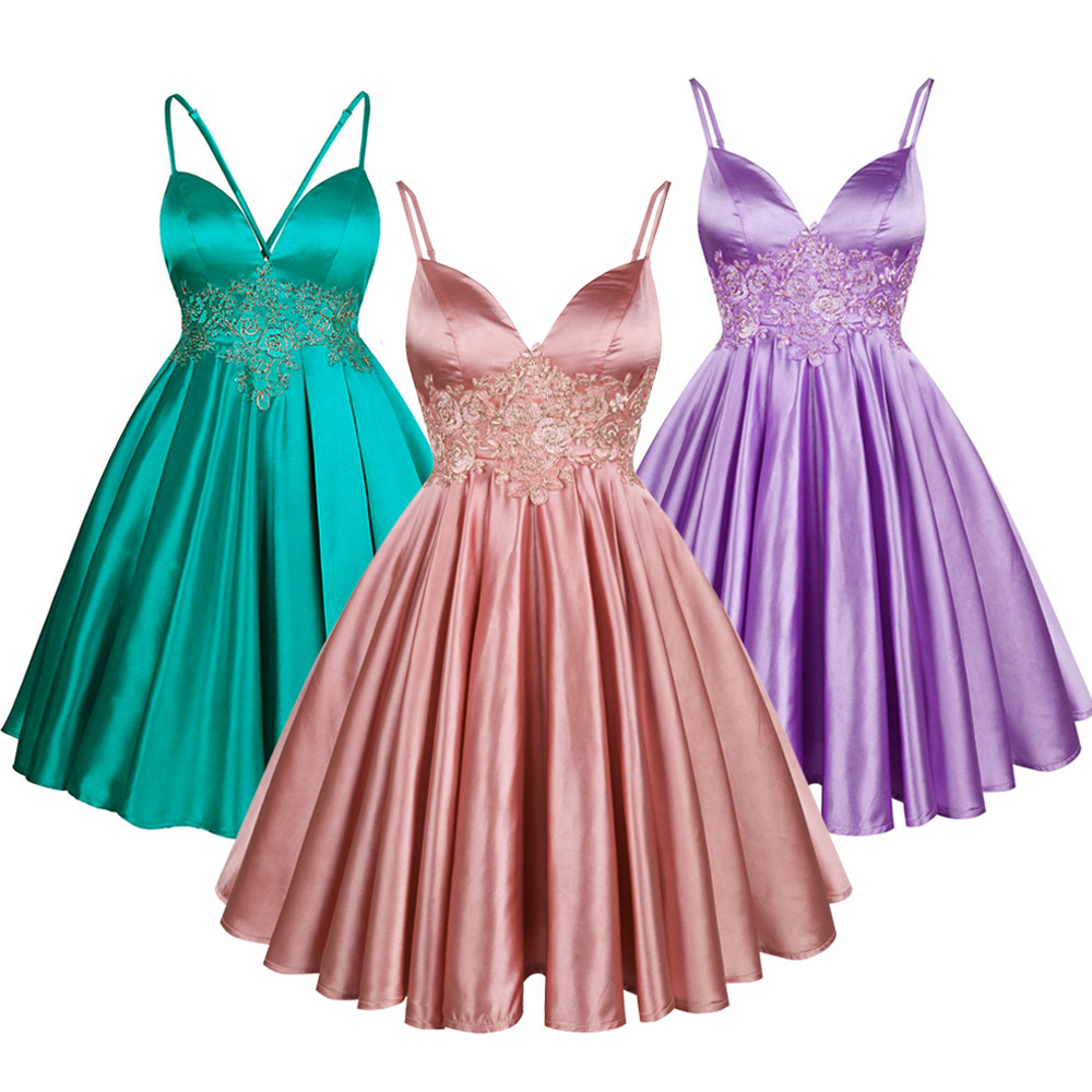 Angel-fashions   Cocktail     Dresses   Formal Party Sequined Ball Gowns 2018 Style Randomly Send
