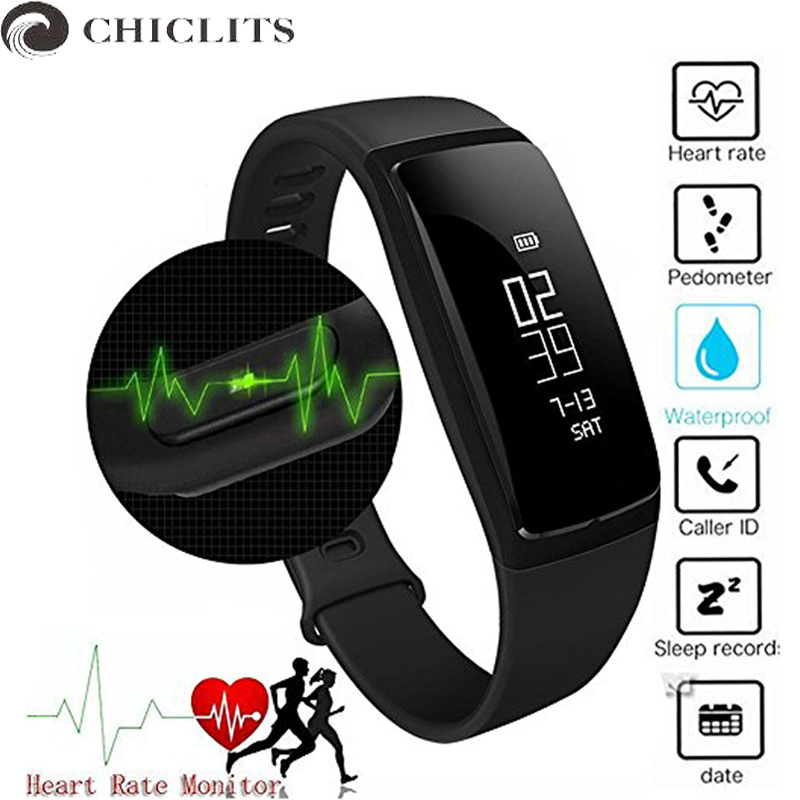 Chiclits Fitness Bracelet Watches Blood Pressure Tracker Heart Rate Monitor Smartband Bluetooth Smart Wristband for Android