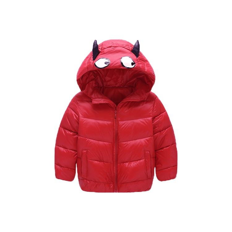 Winter Warm Baby Boys Girls Down Coat Monster Animal Jacket Parka Cotton Down Hooded Kids Snow Outerwear Coat 4-8year children winter coats jacket baby boys warm outerwear thickening outdoors kids snow proof coat parkas cotton padded clothes