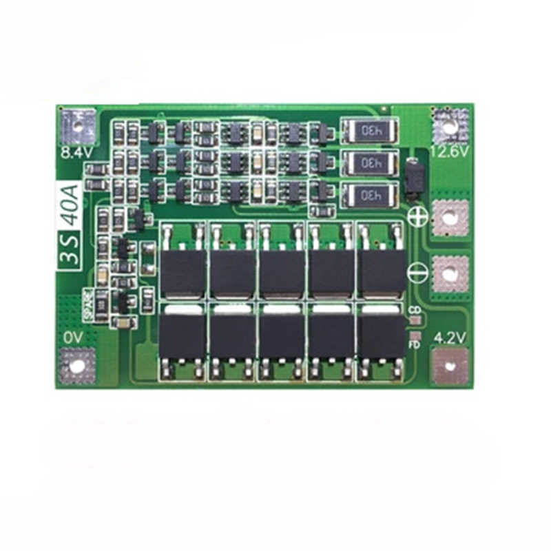 新しいリチウムイオンリチウムバッテリー充電器モジュール BMS 保護充電ボード電気 3S 40A 保護プレート