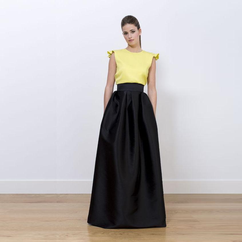 Formal Long Black Skirt | Jill Dress