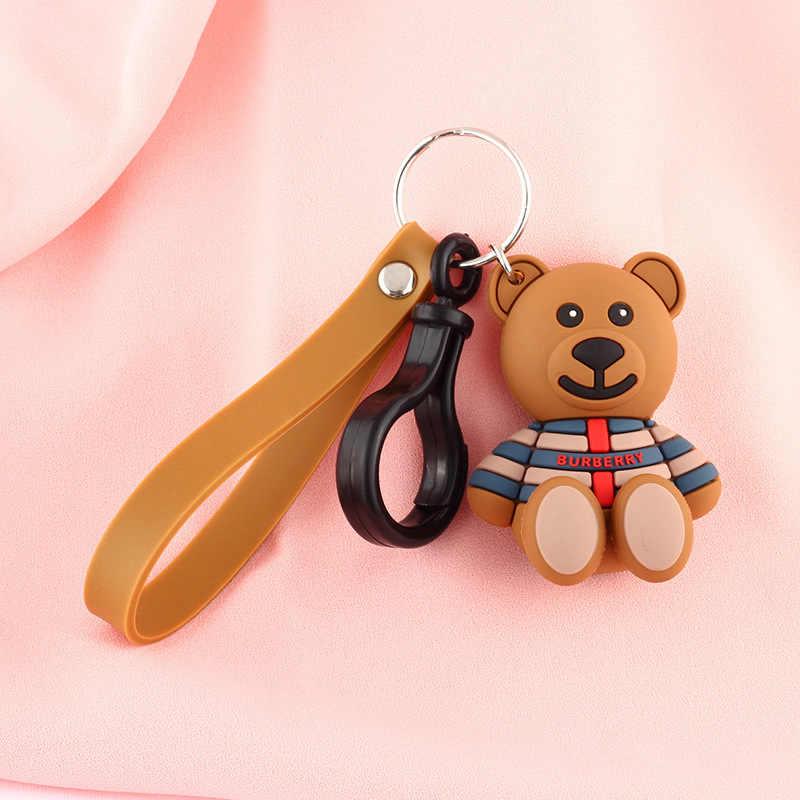 2019 для детей Одежда по мотивам мультфильма «Дораэмон» маленький для девочек с изображением милого плюшевого цепочка для ключей с медведем, силикон, Пингвин человек и брелок для женщин цепь кулон