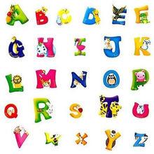 A-Z Alphabet&Animals Wall Sticker Mural PVC Decals Kids Baby Nursery Decor