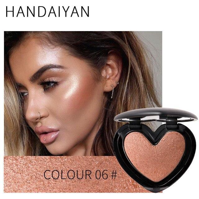 Maquillaje para mujer brillo resaltador Iluminador contorno cara cosméticos polvo prensado al horno paleta iluminar Maquiagem