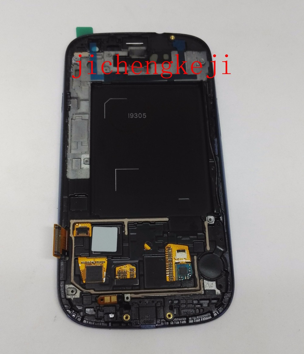 ФОТО Full Lcd display+Touch Screen Glass+Frame Assembly for samsung galaxy s3 4g lte i9305 black/white/Blue color free shipping