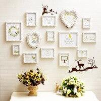 14 pcsmodern рамы для картин романтический фон для съемки квадратная рамка Moldura дюймовая смолы для подвешивания на стену