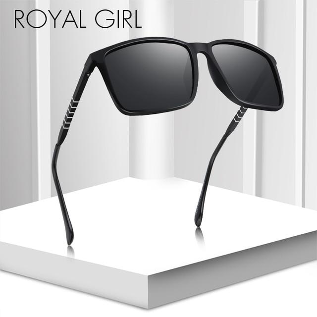 8af2397d40 Real chica polarizado gafas de sol cuadradas hombres 2018 de marca de  diseñador de los hombres