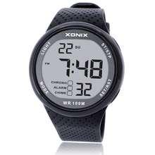 ¡ Caliente! XONIX Hombres Deportes Relojes Reloj Multifuncional Digital de Natación de Buceo Impermeable 100 m Diversión Al Aire Libre LED Reloj Montre Homme