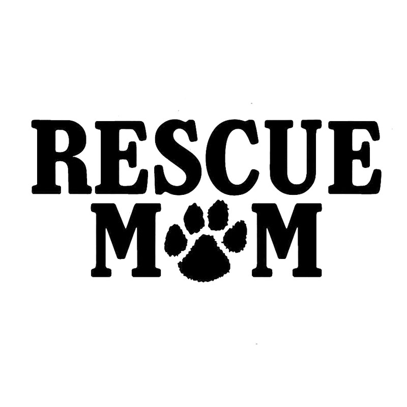 RESCUE DAD VINYL WINDOW STICKER DECAL DOG PRINT IMAGE ANIMAL LOVE ALL COLORS