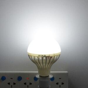 Image 4 - Smart 3 W 5 W 7 W 9 W 12 W E27 220 V Suono/PIR Sensore di movimento luce della lampada A LED Lampadina di Induzione Scale Corridoio Notte Di Emergenza illuminazione