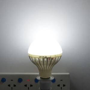 Image 4 - Smart 3W 5W 7W 9W 12W E27 220V dźwięk/PIR Motion Sensor lampka led indukcyjna żarówka schody przedpokój noc oświetlenie awaryjne