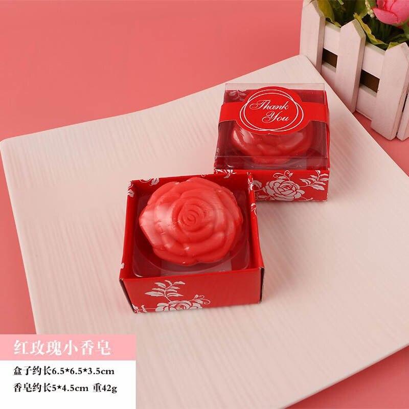 20 шт./лот мини-мыло ручной работы с ароматом для сувенир для свадебной вечеринки и детского душа подарок Свадебные сувениры Мыло для купания - Цвет: red rose