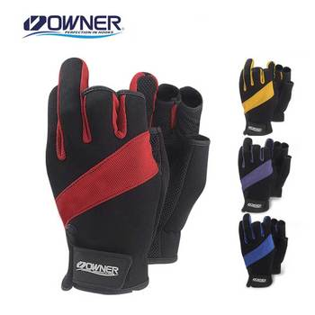 Owner Anti-slip Fishing Gloves cut three finger