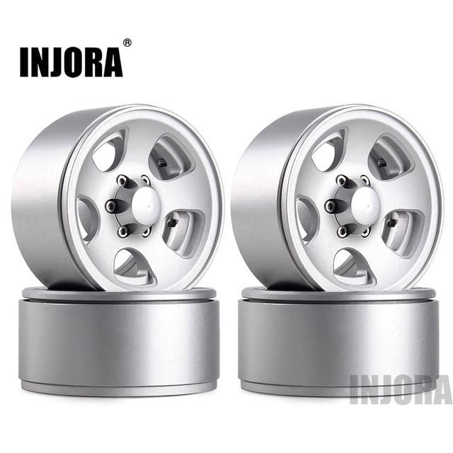 INJORA 1.9 Beadlock Classic Metal Wheel Rim for RC Rock Crawler Axial SCX10 90046 Traxxas TRX4 D90 1