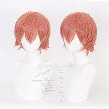 Japonia Anime Sayori peruka do cosplay krótki pomarańczowy rude włosy peruka ciepła fibre impreza przebierana włosy