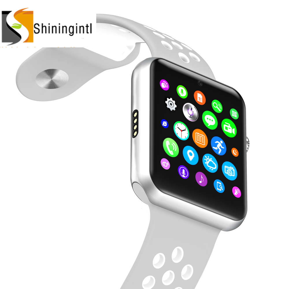 Smochm Bluetooth SmartWatch <font><b>IWO</b></font> <font><b>1</b></font>:<font><b>1</b></font> <font><b>MTK2502C</b></font> NK Sports Band GSM SIM Card Camera Phone Smart Watch for IOS Iphone Android Phone image