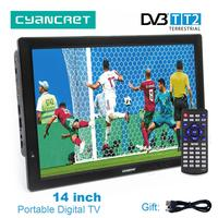 LEADSTAR D14 14 дюймов HD Портативный ТВ DVB T2 цифровой аналоговый телевидения мини маленький автомобиль ТВ Поддержка MP4 AC3 HDMI монитор для PS4