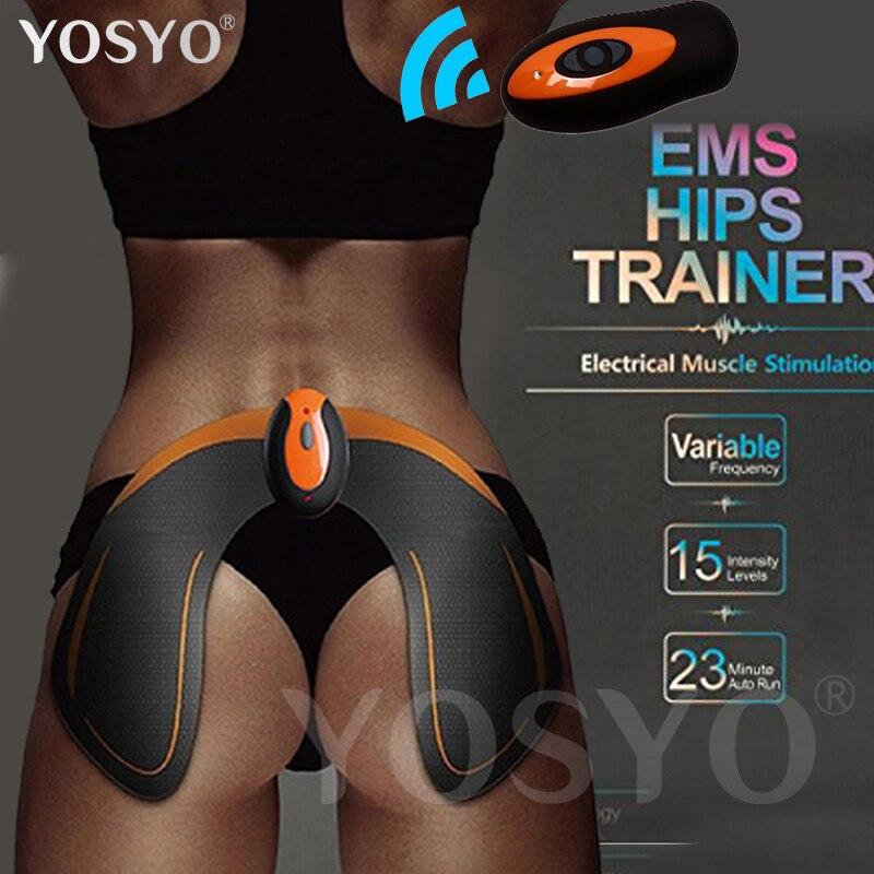 EMS Hips Trainer cadera muscular estimulador Butt ayuda a levantar forma y firma nalga nalgas Control remoto electrónico recargable