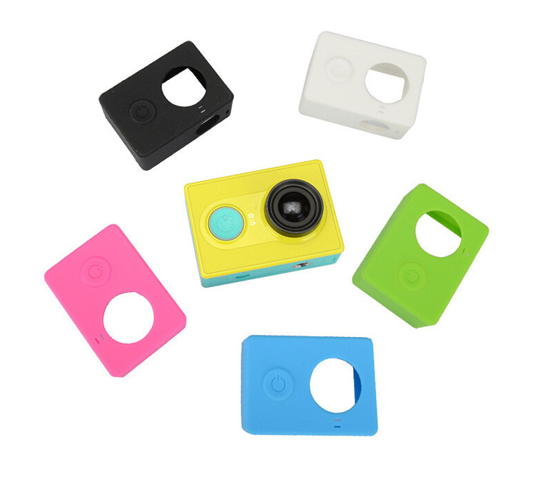Silicon Case Cover Skin Protective Soft Rubber Case Lens Cover Cap for Xiaomi Yi XiaoYi Sport