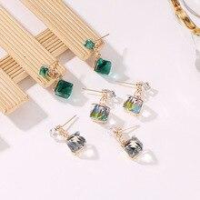 Bohopan Vintage Solid Color Crystal Earrings Creative Geometry Drop Women Fashion Luxury Pendant Statement Jewelry 2019