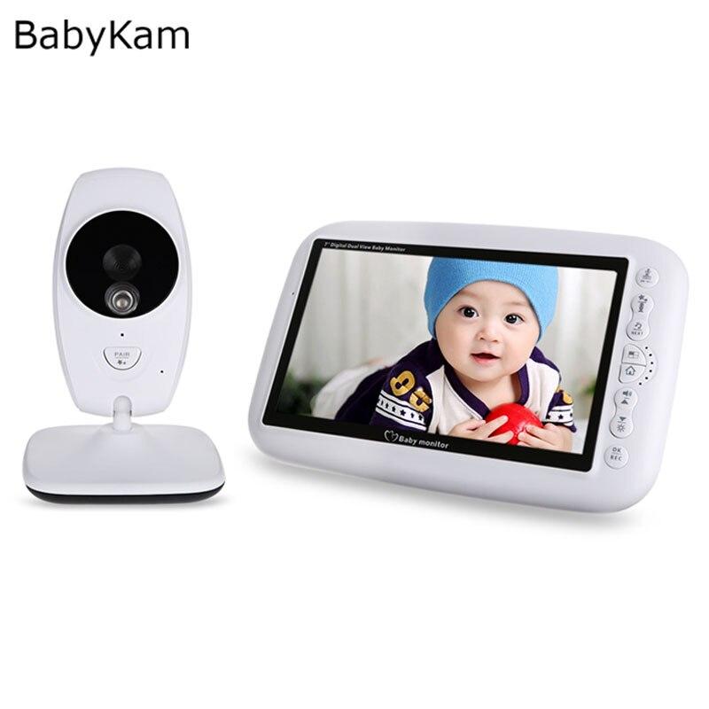 Moniteur bébé numérique 7 pouces vidéo Babyfoon Met caméra 2.4 GHz Vision nocturne infrarouge détection de température nounou électronique
