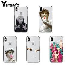Yinuoda Alternative statue David art Newly Arrived Transparent Case for iPhone 6S 6plus 7 7plus 8 8Plus X Xs Xr XsMax 5 5s 5c SE