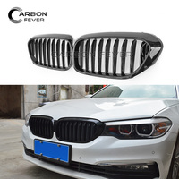 for BMW 5 series Front Kidney Grille G30 G31 F90 ABS Single Line Gloss Black Racing Grill