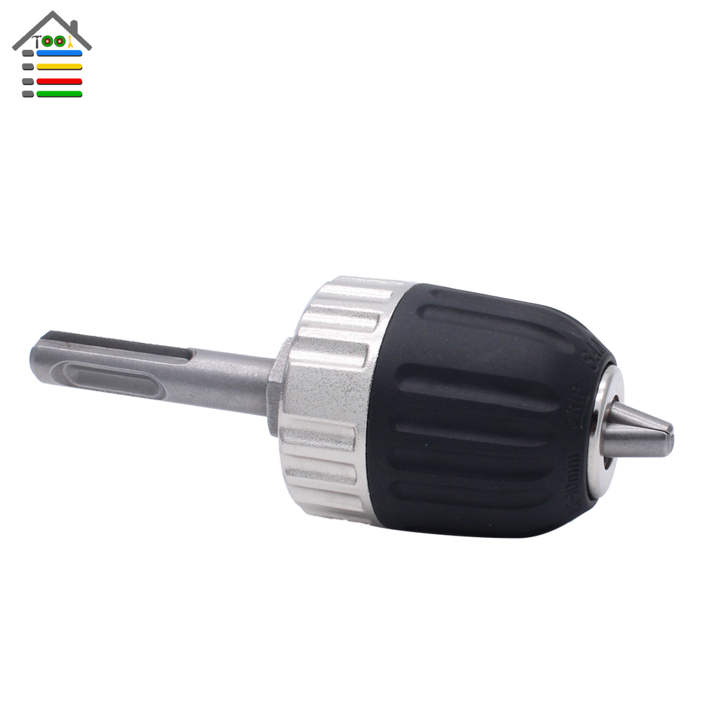 New SDS Drill Chuck Heavy Duty Professional Keyless Drill Chucks Impact with 0.8-10mm with Thread 3/8