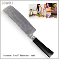 SOWELL Aus 10 Damascus Knives 7 Inch Chopper Knife Beauty Damascus Pattern Kitchen Knives Cooking Tools