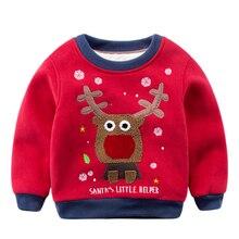 Дети с 2016 новый зимний свитер кашемир Crewneck свитер Мальчик Ребенок Рождество мультфильм теплое зимнее пальто