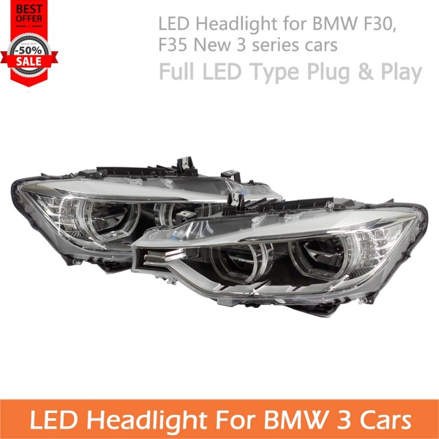 For Bmw 3 Series Led Headlight Assembly F30 F35 Cars Plug And Play