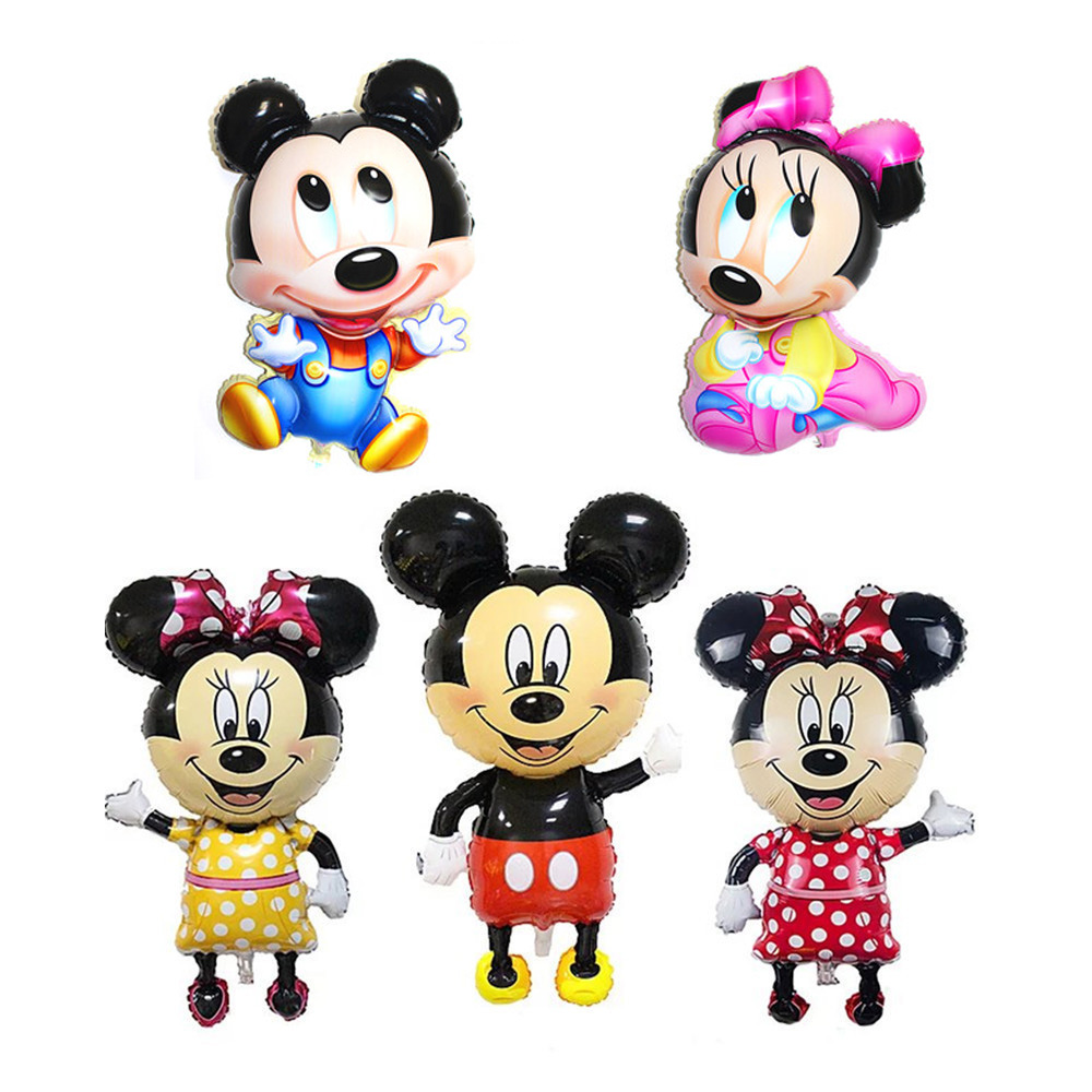 Mickey Minnie Mouse Foil Balloon Cartoon Kids Birthday Party Decoration Baby Shower Party Baloon Toys