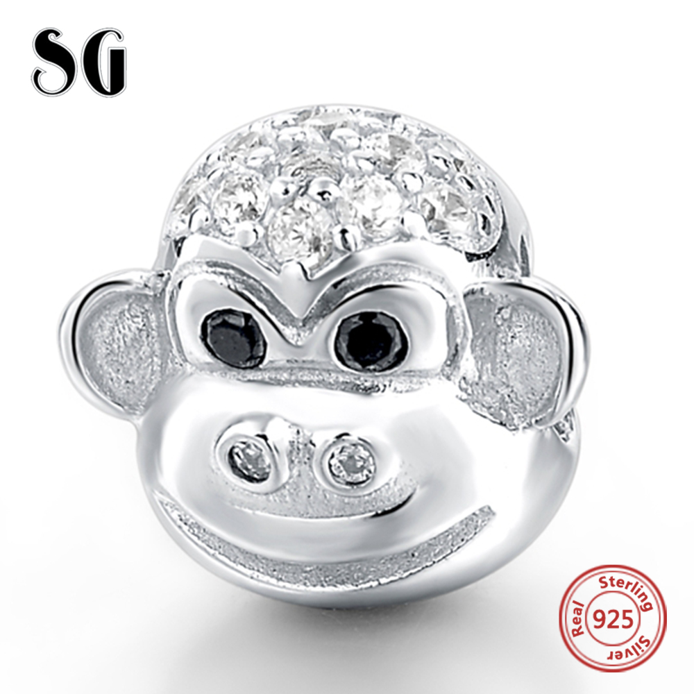 Jewelry & Accessories Monkey With Zirconia Fit Authentic European Charm Bracelet Sterling Silver 925 Original Beads For Women Diy Jewelry For Women Nourishing Blood And Adjusting Spirit