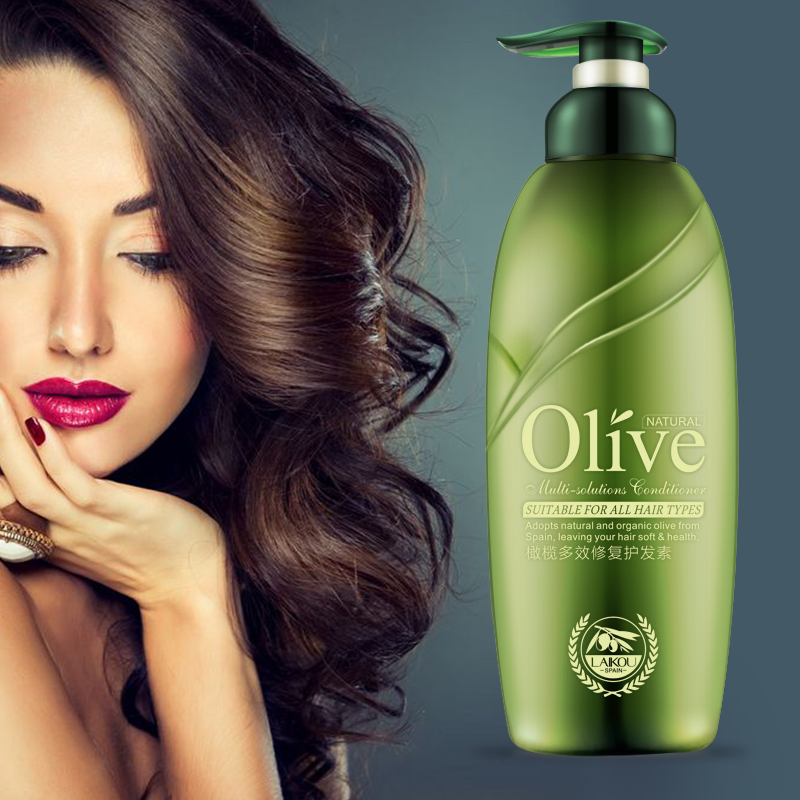 300ml Olive Oil Hair Conditioner Daily Hair Care Product For Dry Damaged Hair Moisturizing Deep Repair Frizz Make Hair Smoothing 1x boqian 800ml unisex ginger juice conditioner hair mask nutrition hair moisturizing cream repair dry damaged hair care bq27