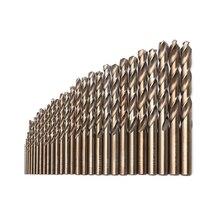DAYFULI 1 мм-13 мм Кобальт высокоскоростная Стальная спиральная дрель M35 набор инструментов из нержавеющей стали полностью заземленные металлические сверлильные инструменты