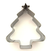 AMW Pohon Natal Cookie Cutter Stainless Steel Biscuit Mold Alat Dapur Kue