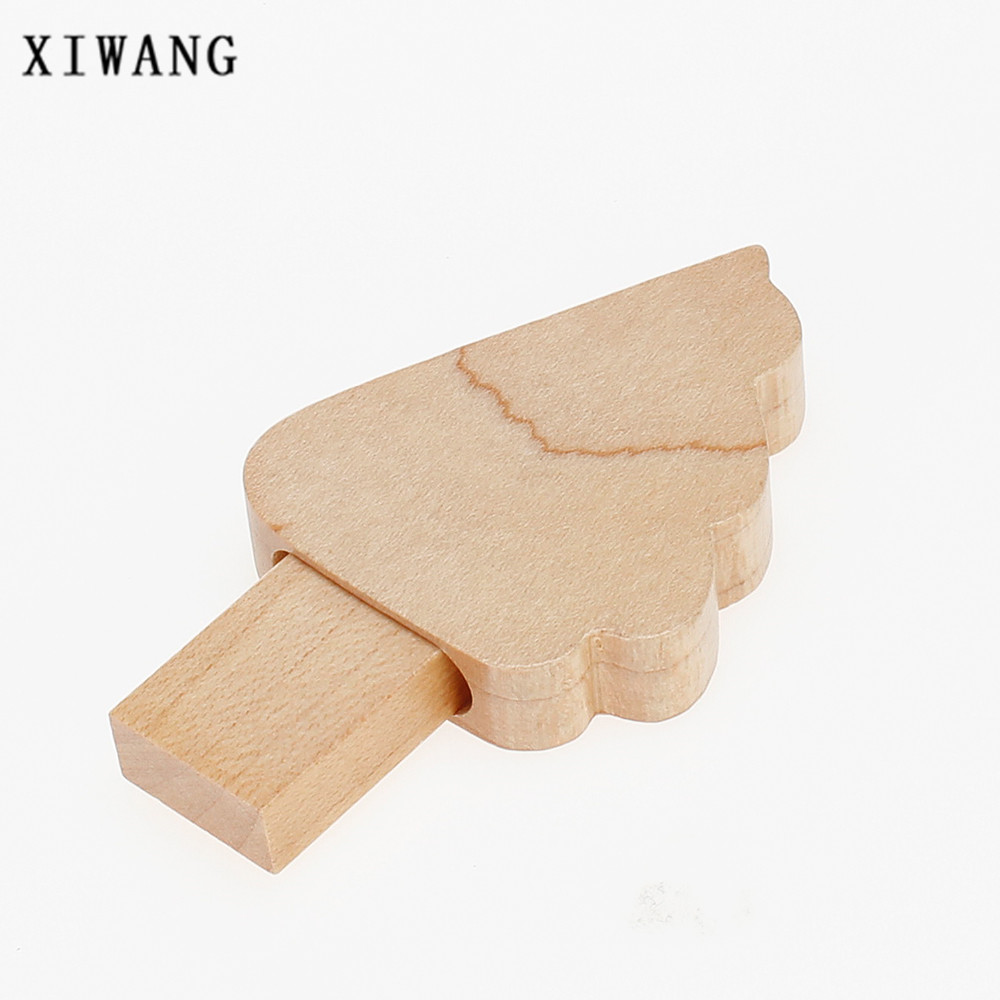Image 3 - Wooden Christmas Tree USB Flash Drive 4GB 8GB 32GB USB memory stick Creative Gift Pen Drive 16GB pendrive 64GB gift custom logo-in USB Flash Drives from Computer & Office