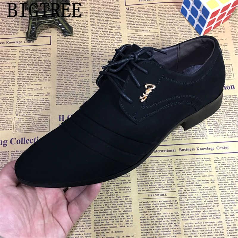 Form Giày Oxford Cho Nam Đầm Giày Người Áo Cưới Giày Công Sở Nam Zapatillas Hombre Deportiva Mocassin Homme DERBI