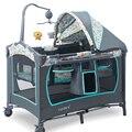 hongkong Free! Valdera brand baby bed 0~6 years old baby use sleeping play bed baby cradle cribs