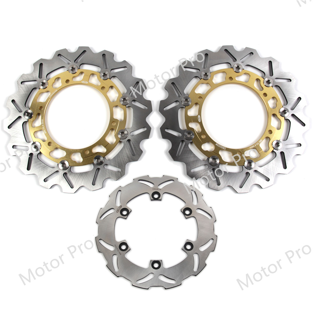 For Yamaha YZF R6 1999 2000 2001 2002 Front Rear Brake Disc Disk Rotor Kit Motorcycle
