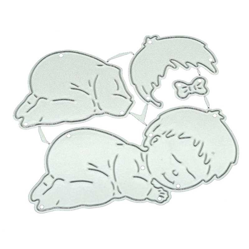 Sleeping Baby Metal Cutting Dies New 2019 Craft Stamps Die Cut Embossing Card Making Stencil Frame