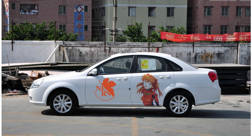 Sticker On Car Picture More Detailed Picture About Free Shipping - Anime car body sticker
