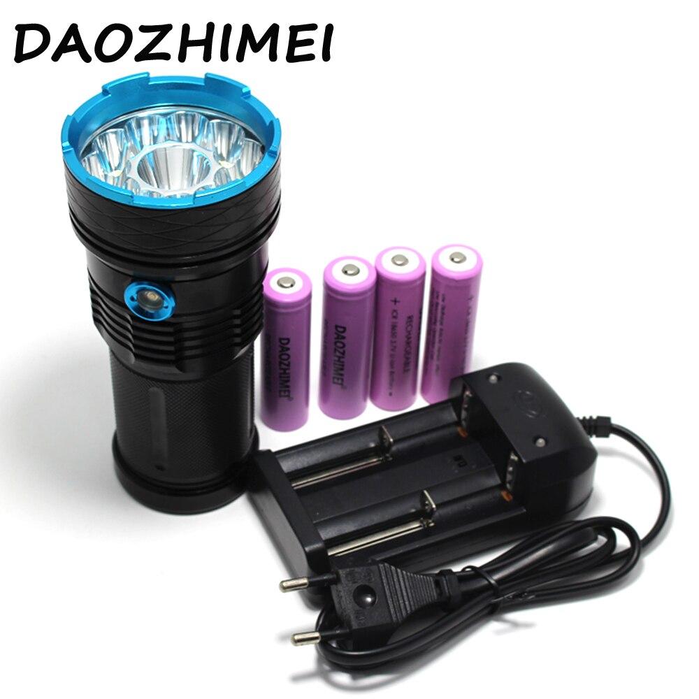 2017 New Led Flashlight 30000 Lumens 12x CREE XM-L T6 LED Flashlight Water-Resistant & Super Bright Torch Flash light super bright 15000lm 12x xm l xml t6 led flashlight torch light for 6x 18650