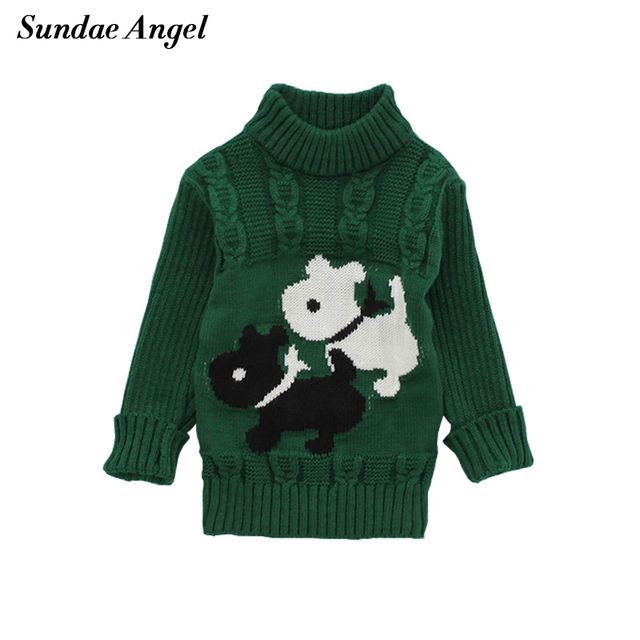 b9a63b73b775 SundaeAngel Baby Girl Winter Sweaters Thicken White Black Dog ...
