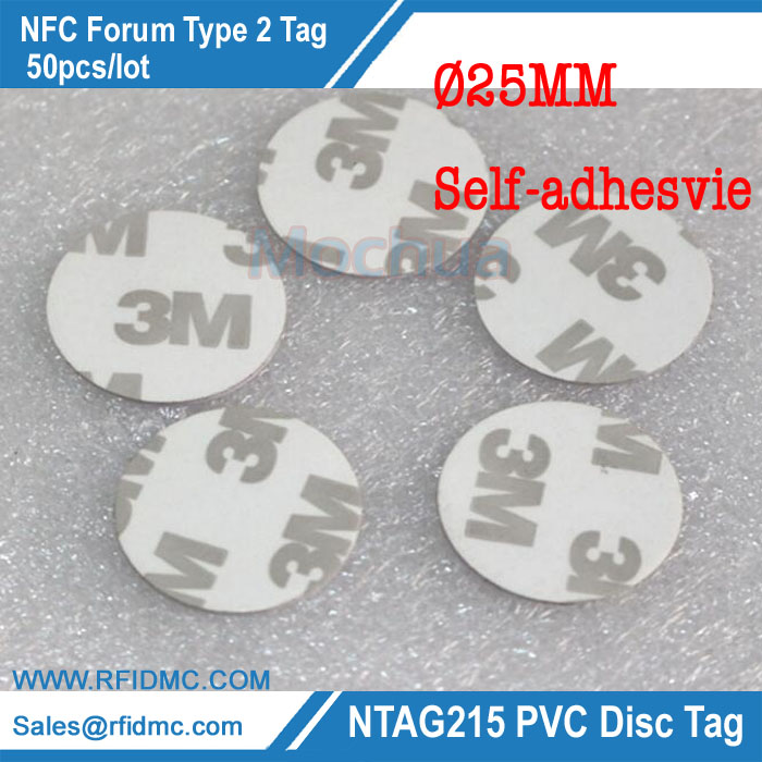 50Pieces NTAG215 NFC TAG All NFC Phone Available NFC Adhesive Tag High Performance