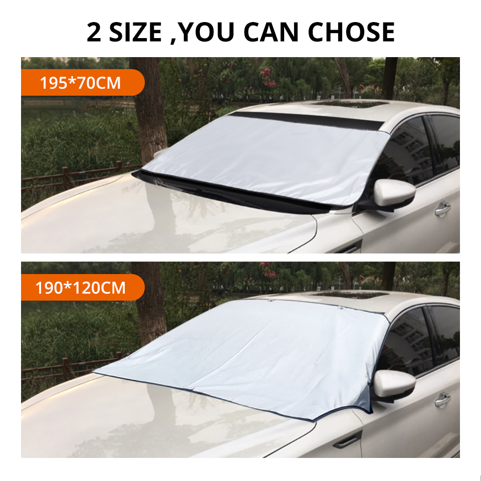 Partol Universal Car Windshield Cover Automobile Sunshade Shield For Windshield Visor Cover Summer Front Window Windscreen Cover